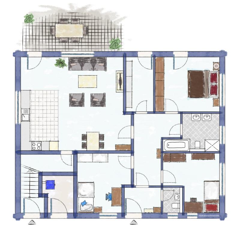 Zweifamilienhaus Erdgeschoss