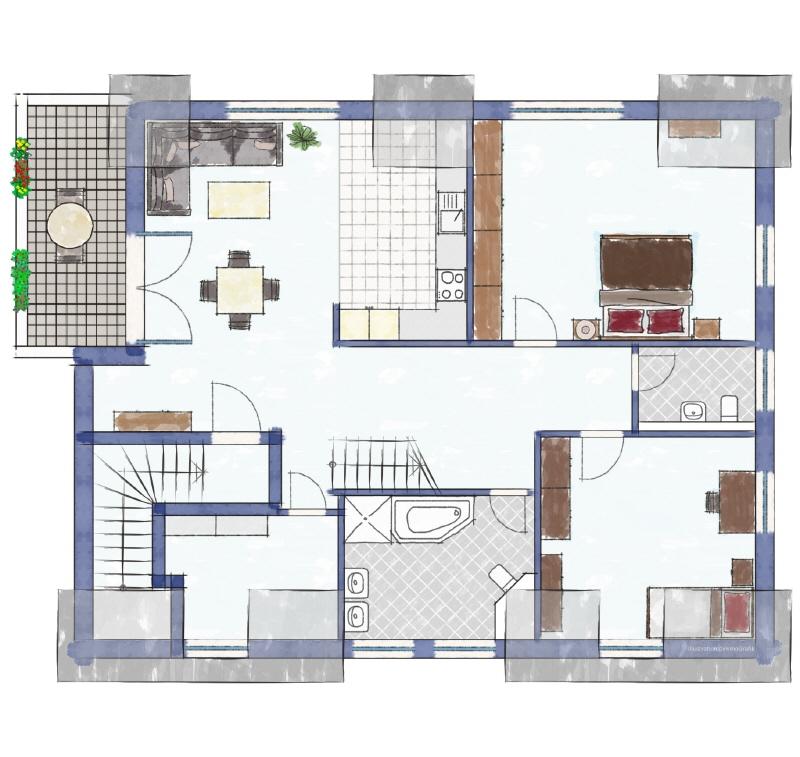 Zweifamilienhaus Obergeschoss