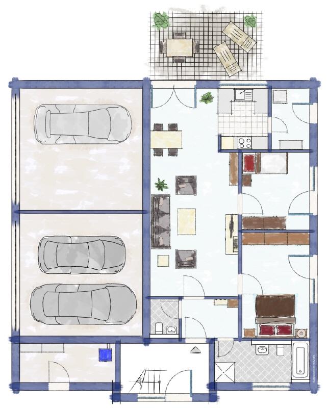 Dreifamilienhaus Erdgeschoss