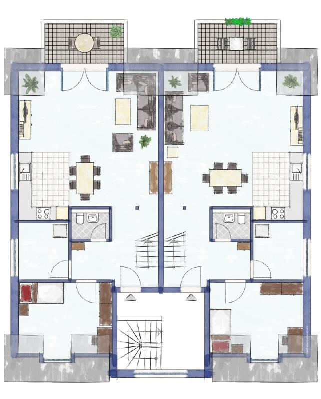 Dreifamilienhaus Obergeschoss