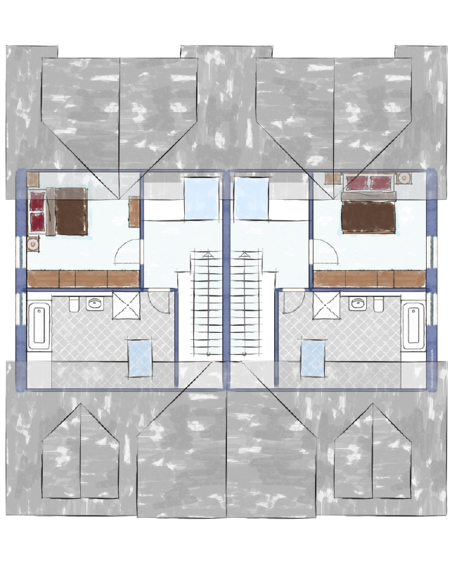 Dreifamilienhaus Dachgeschoss